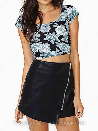 skirt black black skirt faux leather faux leather skirt asymmetrical skirt asymmetrical black faux leather black asymmetrical skirt zip