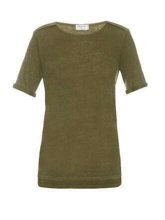 t-shirt shirt dark khaki top