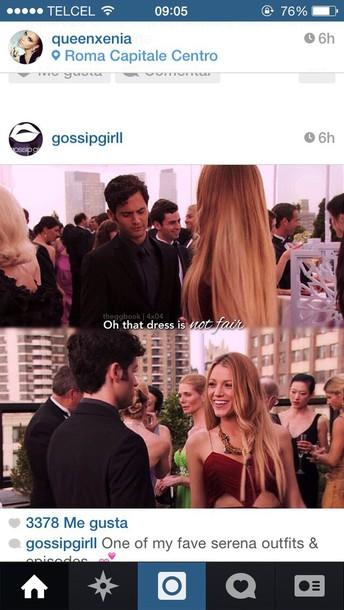 dress gossip girl dress serena van der woodsen gossip girl dress serena red dress