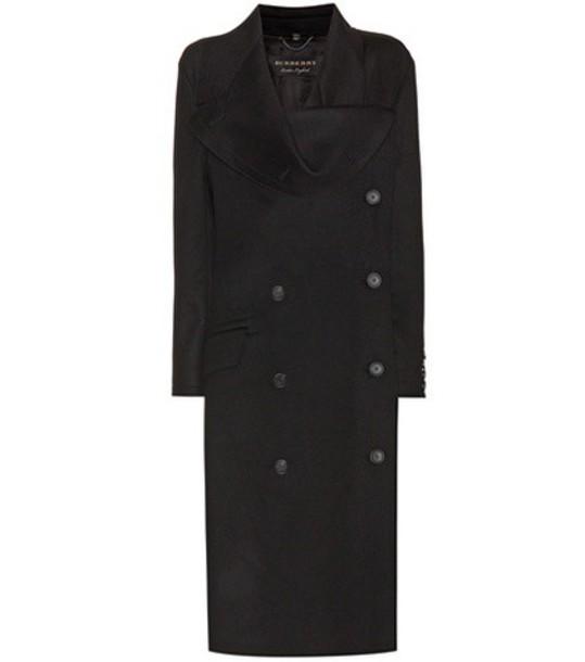 Burberry coat wool coat wool black
