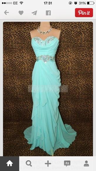 blue dress formal dress turquoise dress