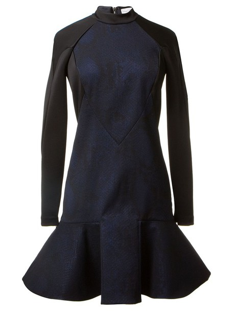 dress stella mccartney peplum dress hem dress little black dress