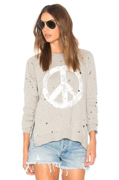 Lauren Moshi pullover sweatshirt vintage peace sweater