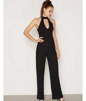 jumpsuit,white,lightpink,black,black jumpsuit