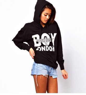 sweater hoodie black hoodie boy london boy
