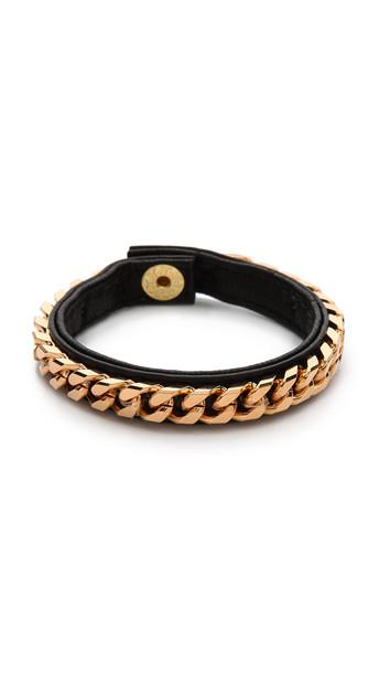 Vita Fede Monaco Single Bracelet - Black/Rose Gold