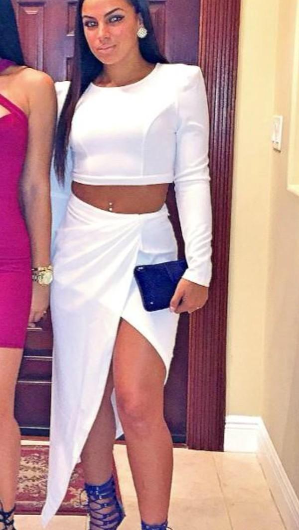 skirt dress white dress