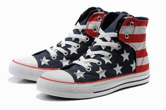 shoes converse usa american flag menswear girls chuck taylor all stars all stars
