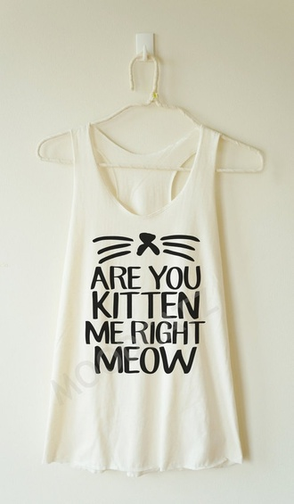 top meow shirt quote on it fashion girly outfit summer top spring outfits lovely