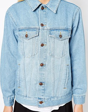 ASOS Petite | ASOS PETITE Denim Jacket In Oversized Boyfriend Fit at ASOS