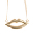 Blu Bijoux Pucker Up Necklace in Gold - Max and Chloe