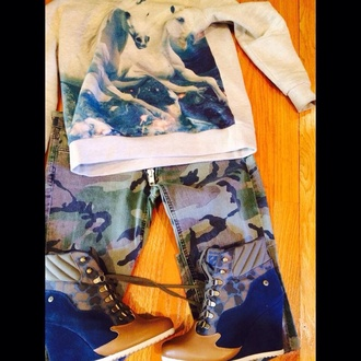 shoes camouflage wedgesneakers