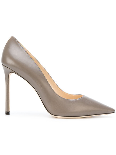 Jimmy Choo women pumps leather green shoes