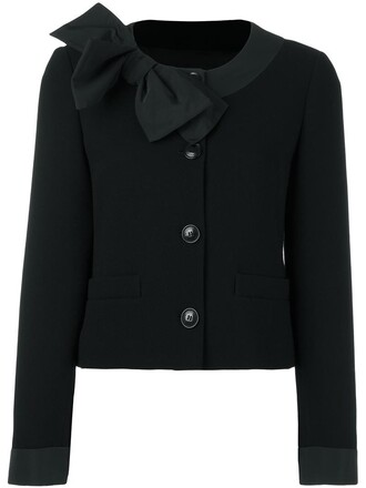cardigan bow women black wool sweater