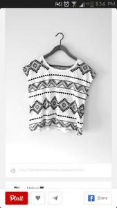 black and white aztec print top sleeveless top
