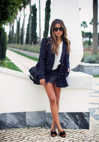 sincerely jules coat skirt shoes bag sunglasses sézane