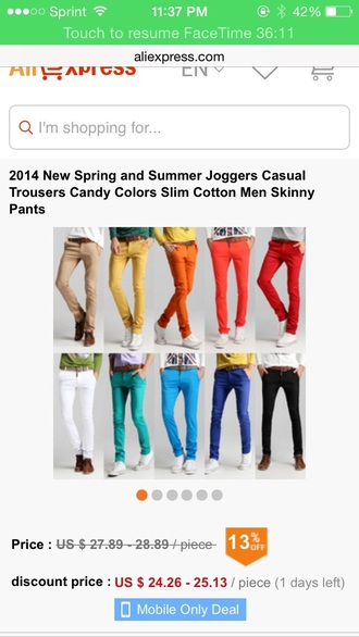 pants blue pants orange pants color red pants white pants khaki pants purple pants green pants black pants