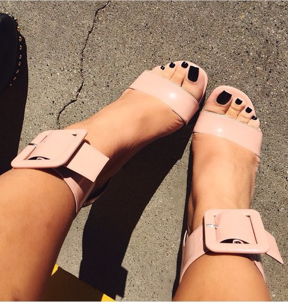 shoes nude buckles