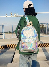 bag,holographic,holographic bag,backpack