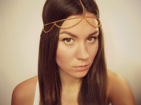 jewels headband head chain headchain chain hairstyles graduation