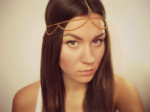jewels chain head chain headchain headband hairstyles graduation