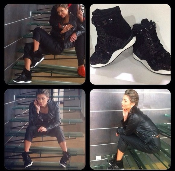 shoes studded shoes sneaker wedges high top sneakers studded sneakers