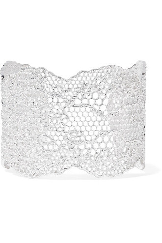 cuff lace silver jewels