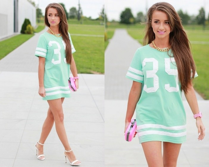 Como usar Baseball Tees/Dress ? | Cabide Colorido