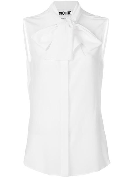 Moschino blouse women white silk top
