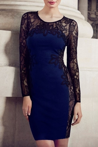 dress beautiful halo formal dress lace dress bodycon dress trendy cute blue dress