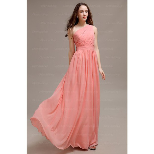 dress one shoulder bridesmaid bridesmaid dress long