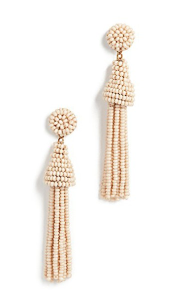 DEEPA GURNANI rose earrings tan jewels