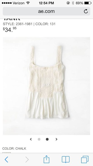 tank top white american eagle outfitters lace dress
