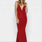 Selina gown - wine red – noodz boutique