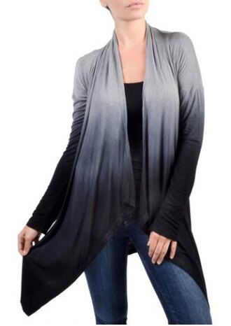 cardigan ombre warm winter outfits fall outfits fashion style grey gradient long sleeves