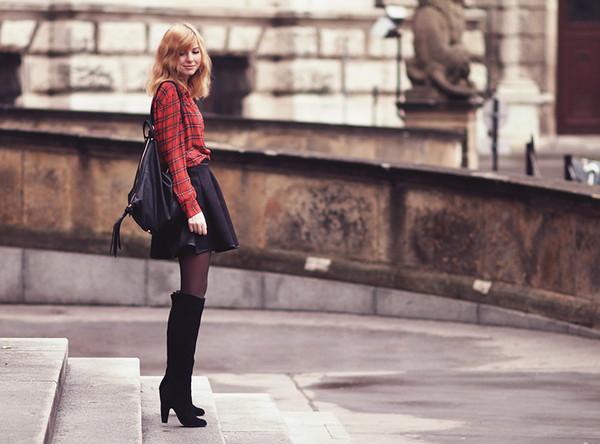 bekleidet blouse skirt shoes