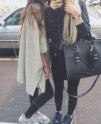 sweater left one grey high neck turtleneck poncho fall outfits winter outfits pullover