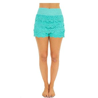 Amazon.com: td women korean sweet crochet tiered lace short skorts short pant skirt: clothing