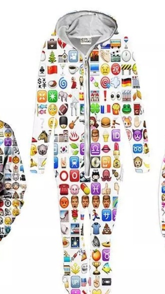 pajamas emoji pants emoji print emoji shirt clothes rainbow smiley white