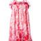 Carven - floral print dress - women - silk/polyester/acetate - 38, pink/purple, silk/polyester/acetate