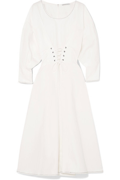 dress midi dress midi white cotton