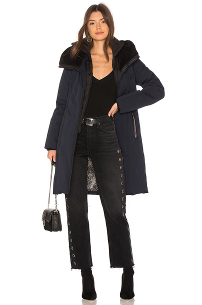 Soia & Kyo coat long navy