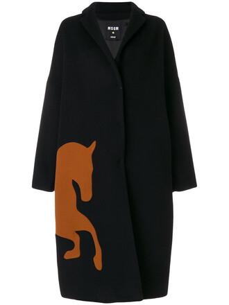 coat oversized coat oversized horse women black wool