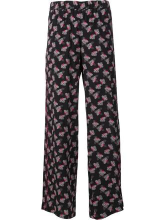 women black silk pants