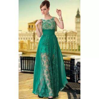 dress green dress long retro prom dresses long prom dress floral