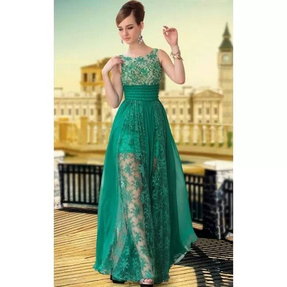 dress green dress long retro prom dresses long prom dresses floral