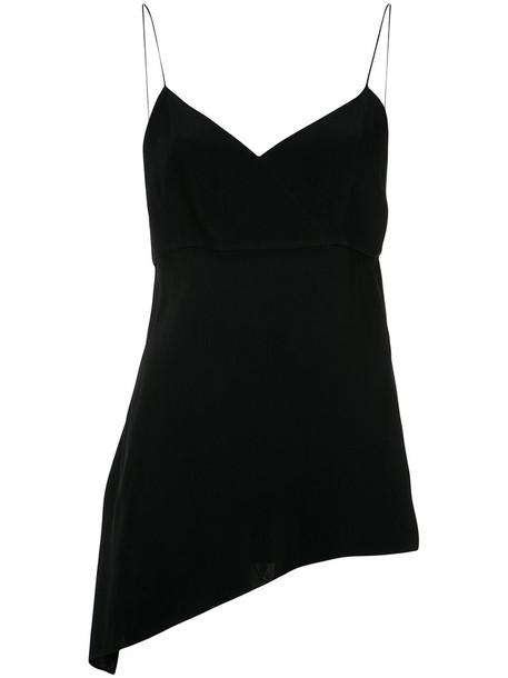 blouse straps women black top