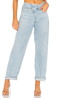 AGOLDE Criss Cross Upsized Jean in Suburbia from Revolve.com