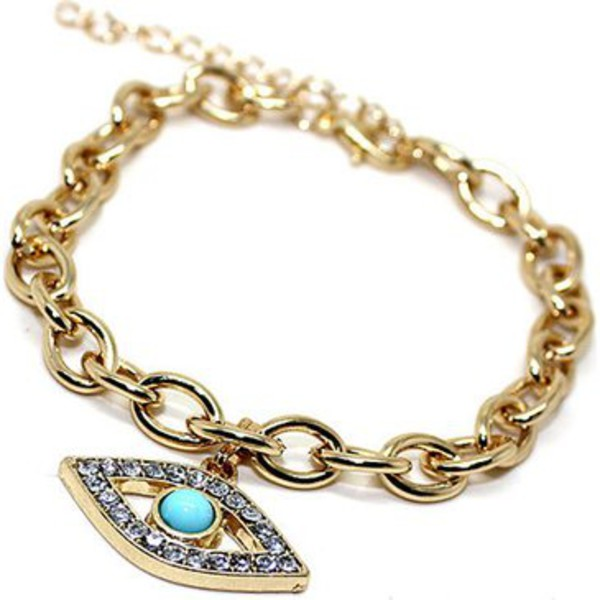 jewels blue eye pendant bracelet