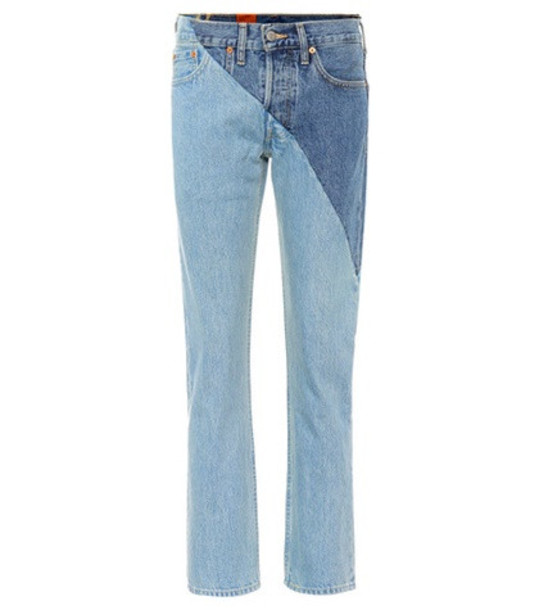 Vetements X Levi's® reworked high-waisted jeans in blue
